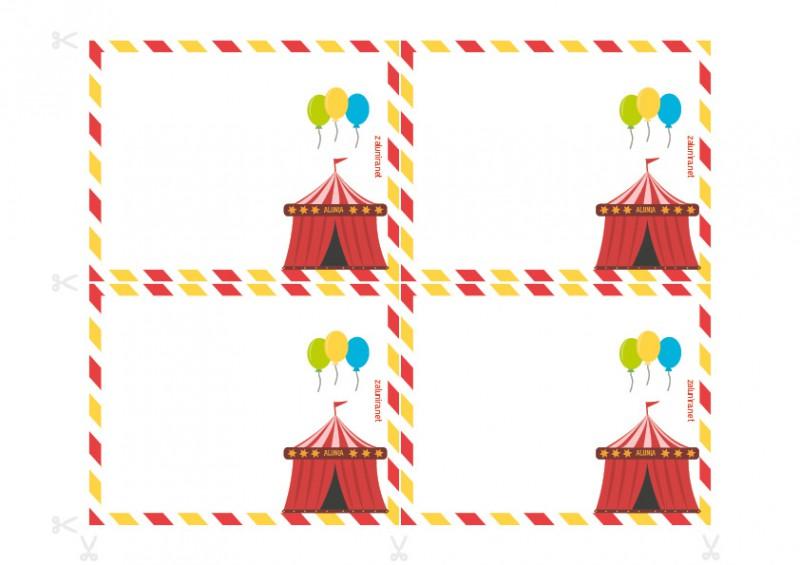 Einladungen Für Geburtstagsfeiern Zum Ausdrucken   Ermittlung Im Zirkus